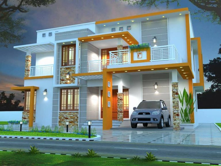 1680 Square Feet 4 Bhk Contemporary Style Modern Two Floor Home and Plan
