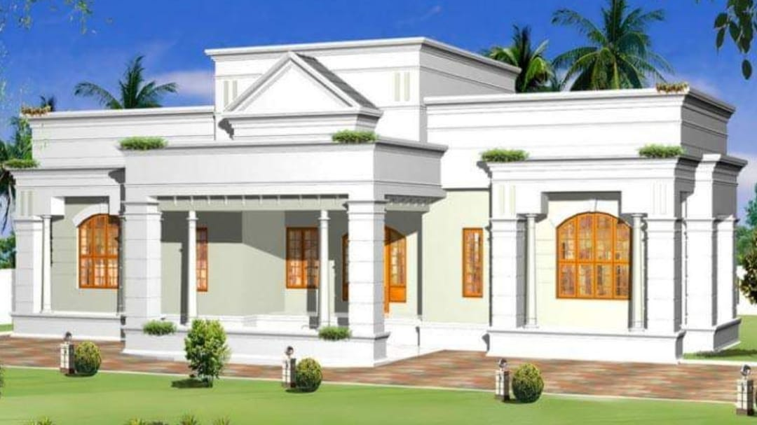 Photo of 1687 Square Feet 3 Bedroom Single Floor Modern Beautiful house and Plan