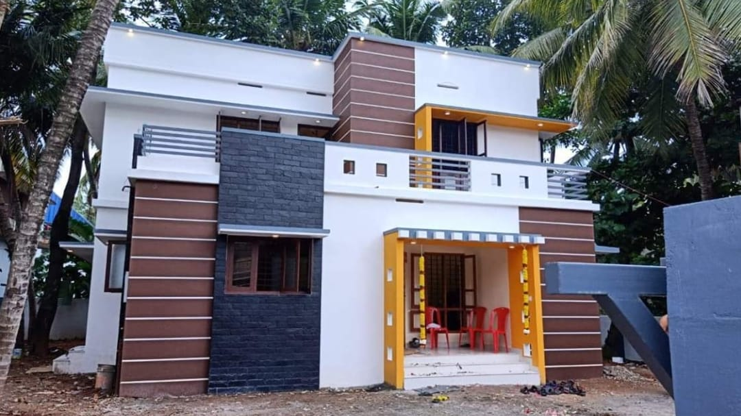 Photo of 1736 Square Feet 3 Bhk Contemporary Style Two Floor Modern House