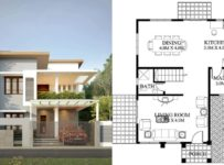 1800 Square Feet 3 Bedroom Contemporary Style Modern Home and Plan