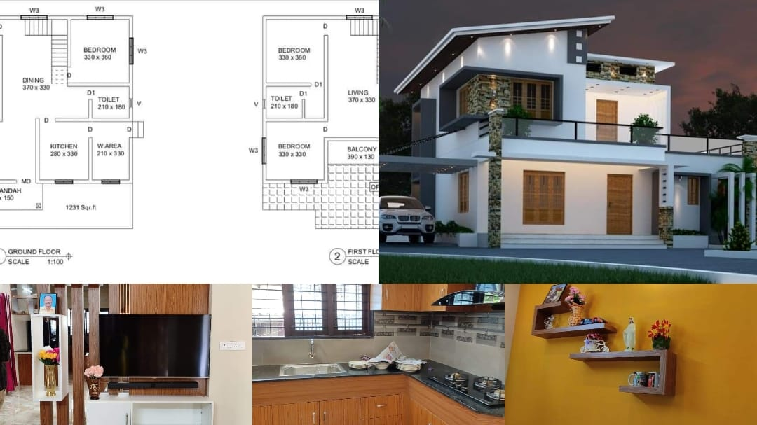 Photo of 1961 Square Feet 4 Bedroom Contemporary Style Modern Home and Plan