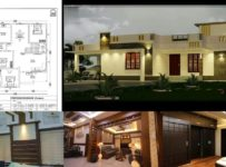 1982 Square Feet 3 Bhk Single Floor Contemporary Style house and Plan