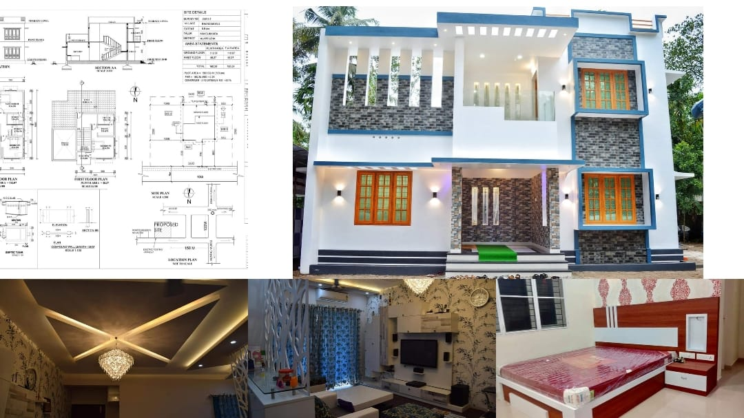 Photo of 2000 Square Feet 3 Bedroom Modern Beautiful House and Plan