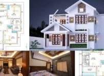 2024 Square Feet 4 Bedroom Colonial Style Beautiful house and Plan