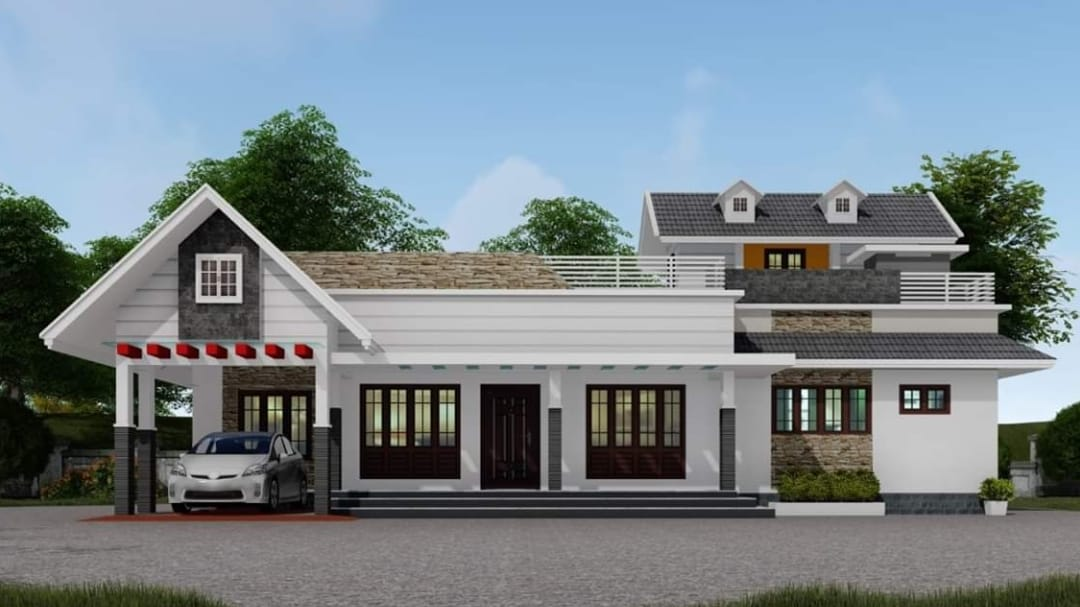 Photo of 2232 Square Feet 4 Bedroom Traditional Style Single Floor House and Plan