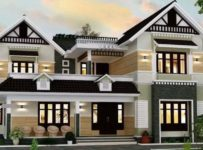 2465 Square Feet 4 Bedroom Colonial Style Modern Home and Plan