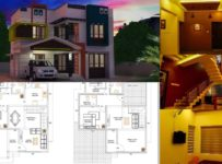 4 Bedroom Modern and Beautiful Contemporary Style Double Floor House and Plan