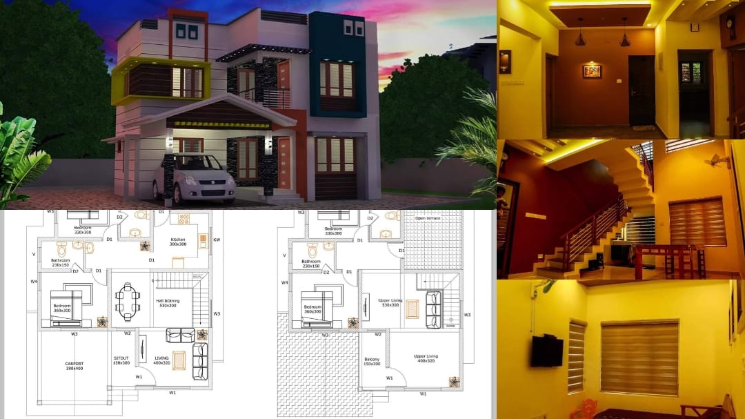 Photo of 4 Bedroom Modern and Beautiful Contemporary Style Double Floor House and Plan