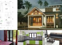 700 Square Feet 2 BHK Single Floor Beautiful House and Plan For 10 Lack