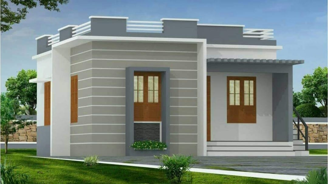 Photo of 700 Square Feet 2 Bedroom Modern and Beautiful House and Plan