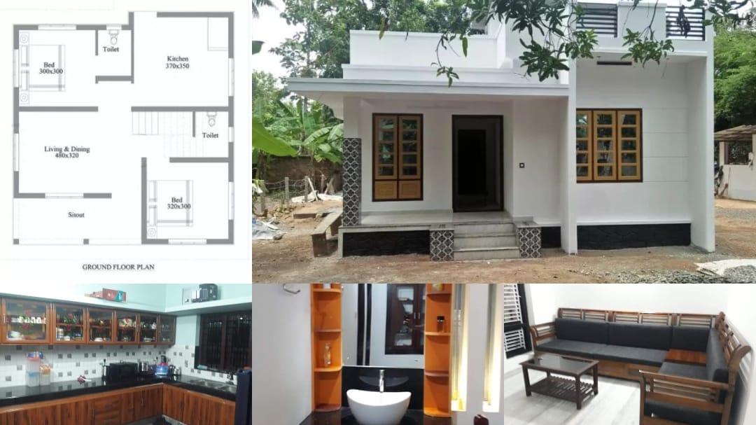 Photo of 700 Square Feet 2 Bedroom Single Floor Beautiful House and Plan, 10 Lacks