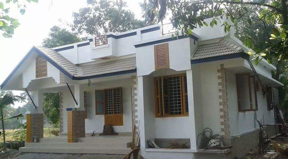 Photo of 750 Square Feet 2 Bedroom Kerala Style Single Floor Beautiful House and Plan