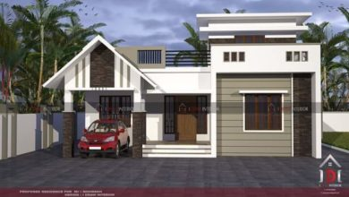 Photo of 1000 Square Feet 2 Bedroom Single Floor Low Budget House and Plan