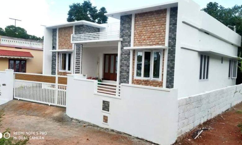 1000 Square Feet 3 Bedroom Single Floor House and Plan