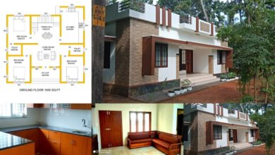 Photo of 1000 Square Feet 3 Bedroom Single Floor Low Cost House and Plan