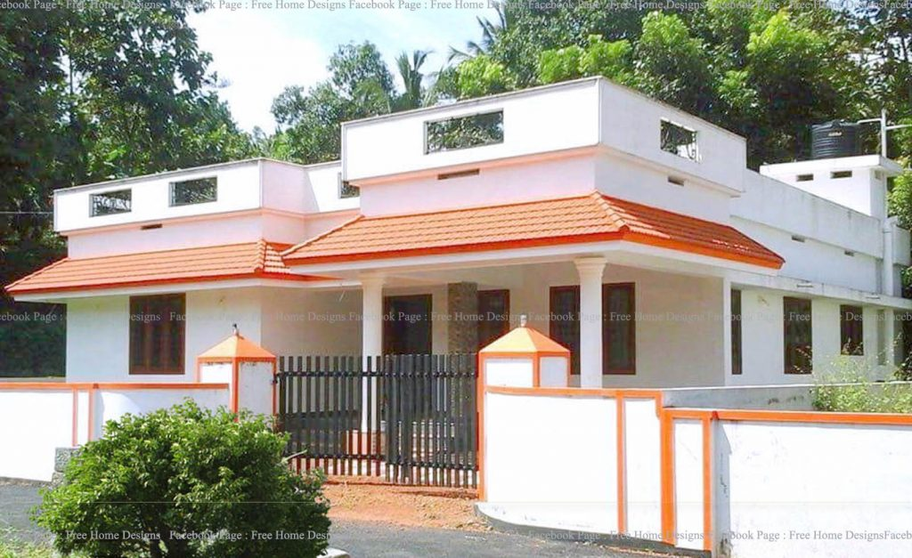 Photo of 1022 Square Feet 3 Bedroom Single Floor Traditional Style House and Plan