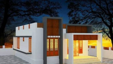Photo of 1118 Square Feet 2 Bedroom Single Floor Contemporary Style House and Plan