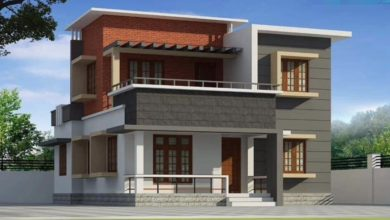 Photo of 1448 Square Feet 4 BHK Contemporary Style Two Floor Modern House and Plan