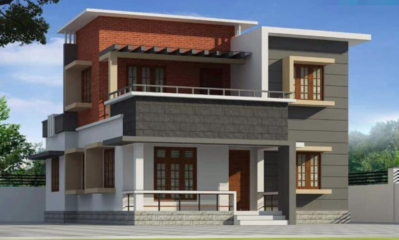 1448 Square Feet 4 BHK Contemporary Style Two Floor Modern House and Plan