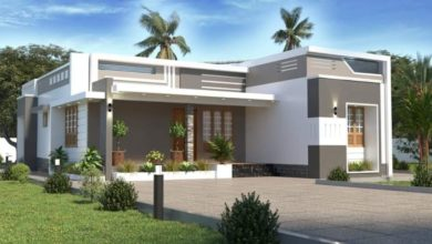 Photo of 1550 Square Feet 3 Bedroom Contemporary Style Single Floor House and Plan