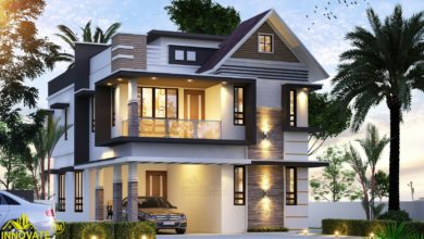Photo of 1730 Square Feet 3 Bedroom Two Floor Modern House and Plan