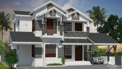 Photo of 2100 Square Feet 3 Bedroom Colonial Style Double Floor House and Plan
