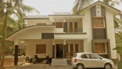Photo of 2280 Square Feet 4 BHK Contemporary Style Double Floor House and Plan