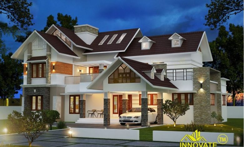 2640 Square Feet 5 Bedroom Colonial Style Two Floor Beautiful House and Plan