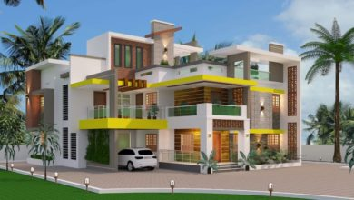 Photo of 3000 Square Feet 6 Bedroom Contemporary Style Duplex Home and Plan