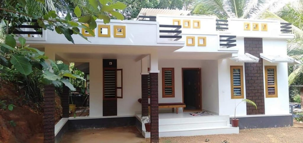Photo of 750 Square Feet 2 Bedroom Single Floor Modern Style House and Plan
