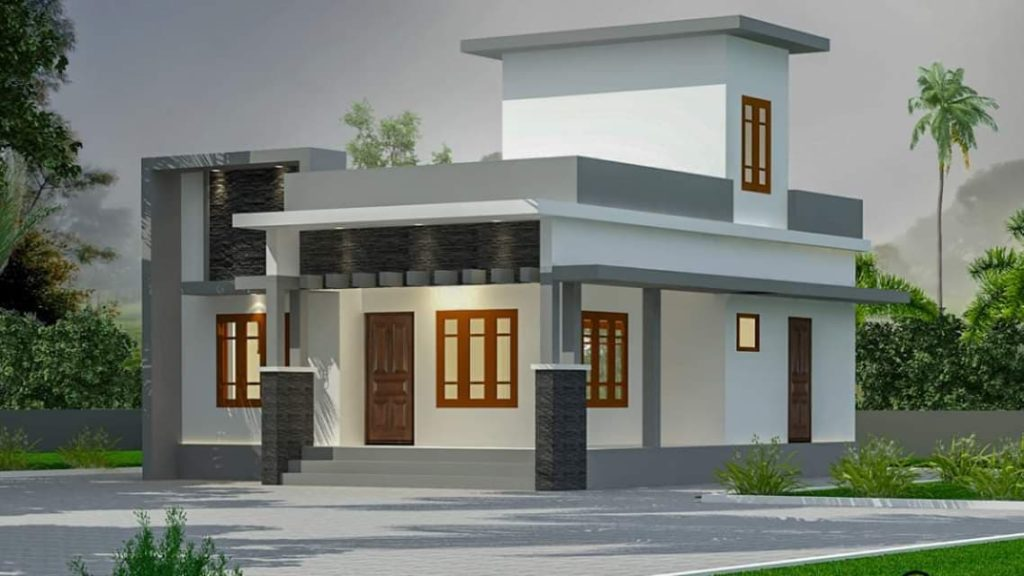 Photo of 790 Square Feet 2 Bedroom Single Floor Contemporary Style House and Plan