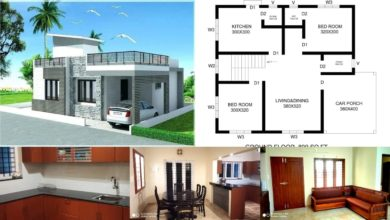 Photo of 800 Sq Ft 2 Bedroom Contemporary Style Single Floor House and Plan