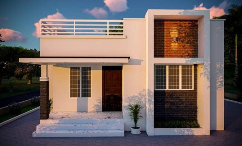 840 Square Feet 2 Bedroom Single Floor Modern House and Plan