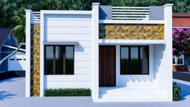 Photo of 850 Square Feet 2 Bedroom Single Floor Contemporary Style house and Plan