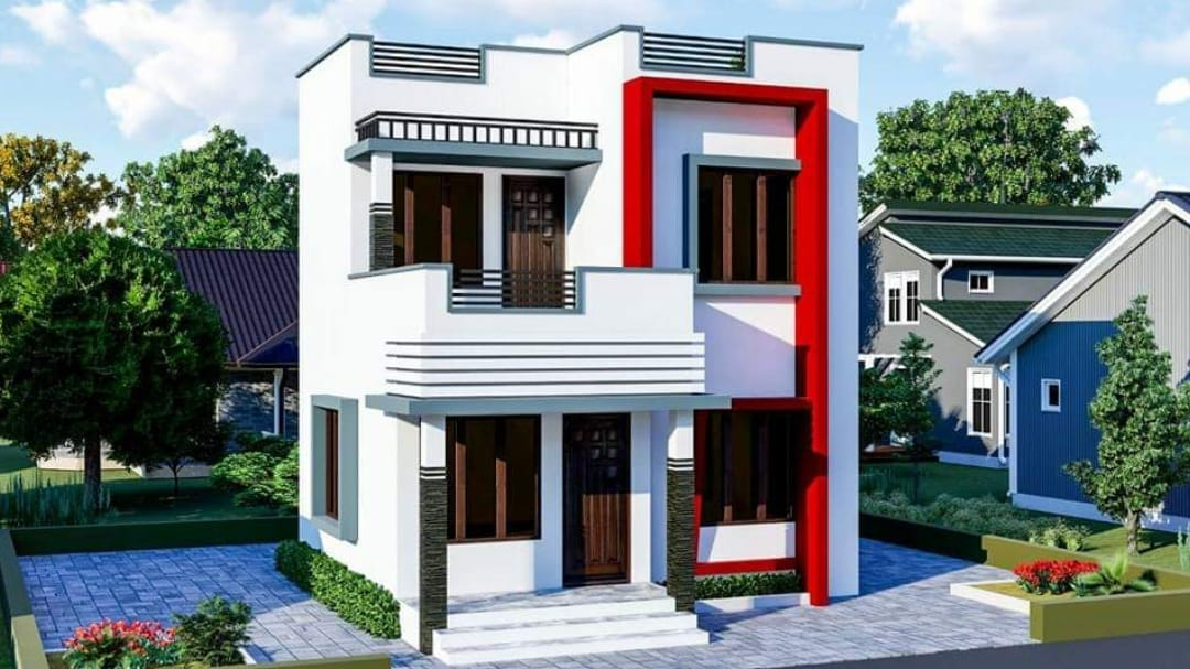 950 Square Feet 3 Bedroom Modern Low Cost Two Floor House ...
