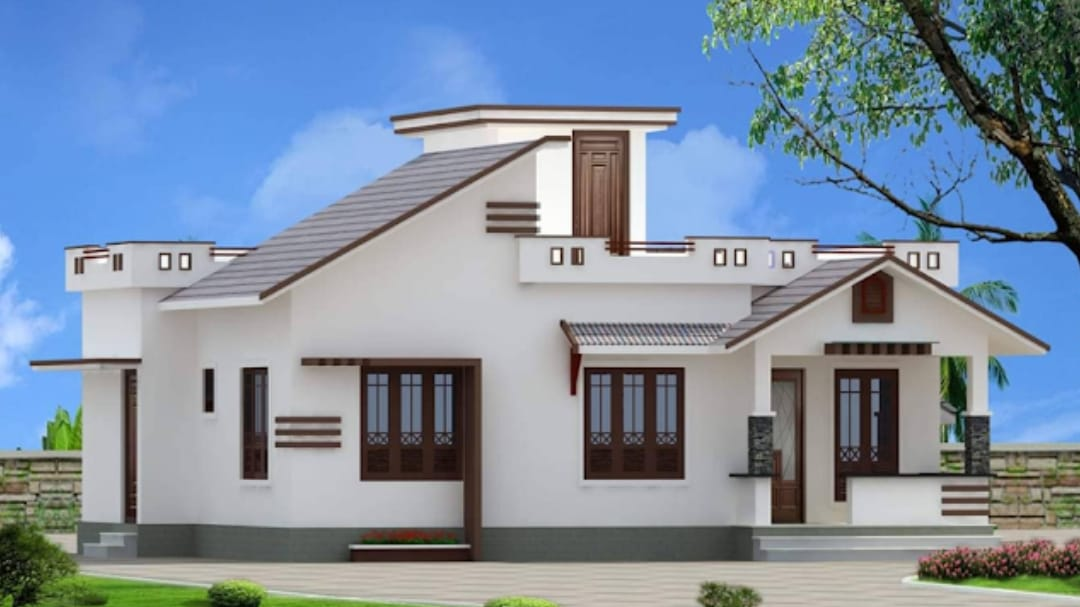 Photo of 963 Square Feet 2 Bedroom Single Floor Modern House and Plan