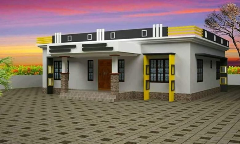 1000 Square Feet 3 Bedroom Single Floor Modern House and Plan