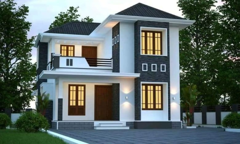 1025 Square Feet 3 Bedroom Double Floor Beautiful House and Plan