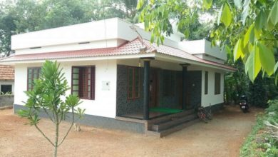 Photo of 1065 Square Feet 2 Bedroom Single Floor Kerala Style House and Plan