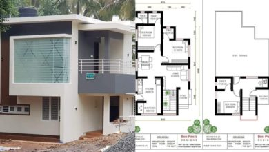 Photo of 1148 Square Feet 3 BHK Contemporary Style Double Floor House and Plan