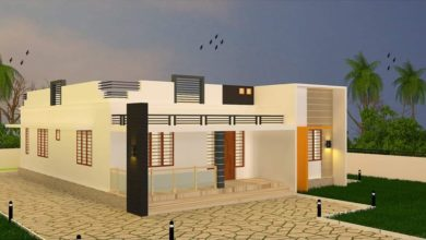 Photo of 1223 Square Feet 3 BHK Modern Single Floor House and Plan