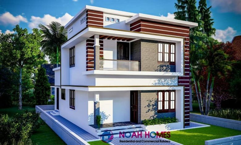 1280 Square Feet 3 Bedroom Modern Double Floor House and Plan