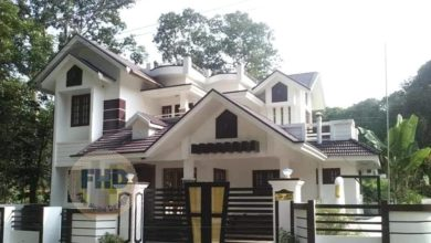 Photo of 1359 Square Feet 3 Bedroom Kerala Style Two Floor House and Plan