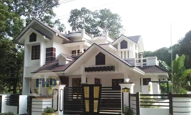 1359 Square Feet 3 Bedroom Kerala Style Two Floor House and Plan