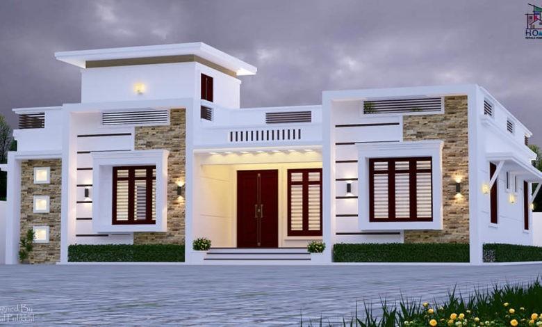 1500 Sq Ft 3 BHK Single Floor Modern Home