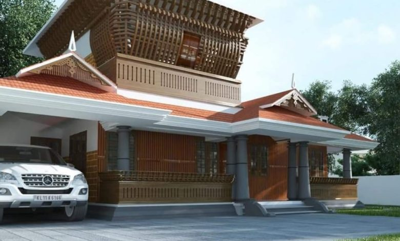 1560 Square Feet 2 Bedroom Traditional Style Double Floor House and Plan