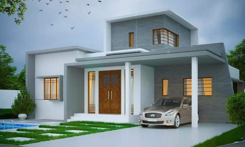 1650 Square Feet 3 Bedroom Contemporary Style Beautiful House and Plan