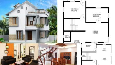 Photo of 1690 Square Feet 3 BHK Contemporary Style Modern House and Plan