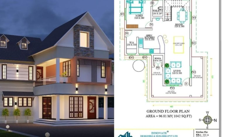 1884 Square Feet 3 Bedroom Colonial Style Modern Home and Plan