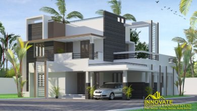 Photo of 1953 Square Feet 4 Bedroom Contemporary Style Two Floor Home and Plan